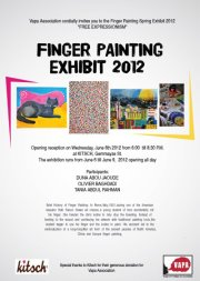 Finger-Painting Student's Show